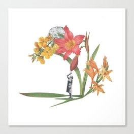 Woman with Flowers Canvas Print