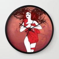 mars Wall Clocks featuring Mars by Andrew Mark Hunter