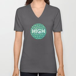 Cannabis / Hemp / 420 / Marijuana  - Pattern Unisex V-Neck