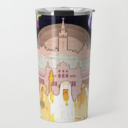 Seville Hispano American Expo 1929 art deco ad Travel Mug