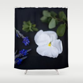 Lavandula and a Pansy Shower Curtain