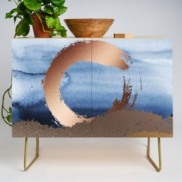 Inspiration: Gold, Copper And Blue Credenza