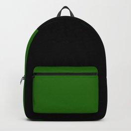 Color Block Black Green Backpack