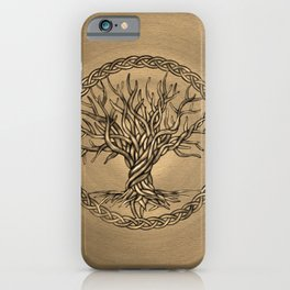 Tree of life -Yggdrasil -Sepia Canvas iPhone Case