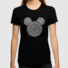 Black and White Bear Mandala T-shirt