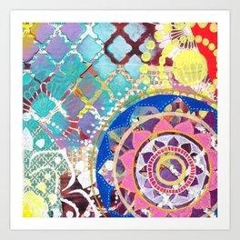 Mixed Media Mandala Art Print