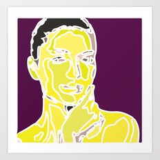 yellow face Art Print