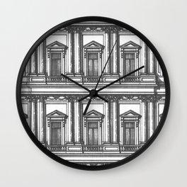 Windows and Columns Wall Clock