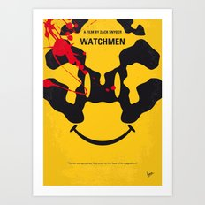 No599 My watch men minimal movie poster Art Print