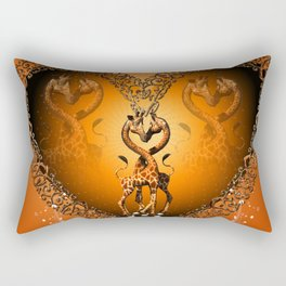 Cute giraffe couple Rectangular Pillow