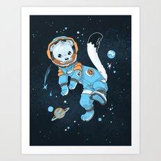 Space Ermine Art Print