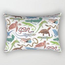 Endangered Reptiles Around the World Rectangular Pillow
