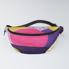 Terrazzo galaxy purple night yellow gold pink Fanny Pack