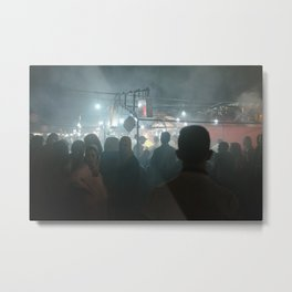 Night Market In Marrakesh, Morocco Metal Print