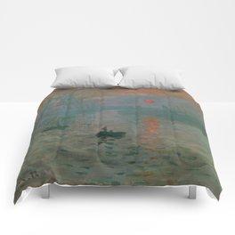 Impression, Sunrise, Claude Monet Comforters