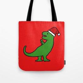Christmas T-Rex Tote Bag