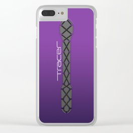 Tracer Electric Purple Cosplay Leggings Clear iPhone Case