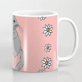 Daisy Chinchilla Flower Crown Border Coffee Mug