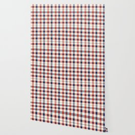 Plaid Red White And Blue Lumberjack Flannel Wallpaper