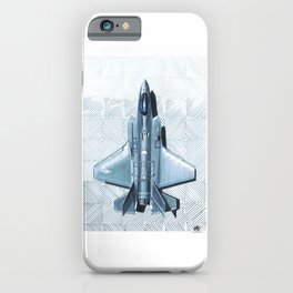 F35 Top View Hatched iPhone Case