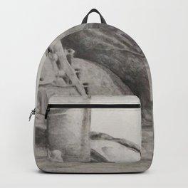 Pencil drawing of guitar girl Backpack