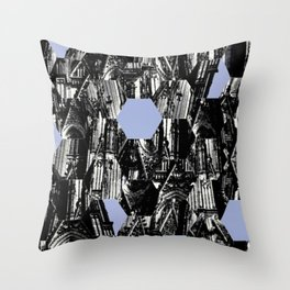 Koln Church Abstract Throw Pillow