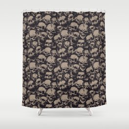 Skulls Seamless Shower Curtain