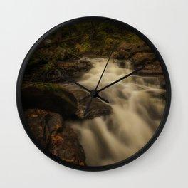 Beauty of Ricketts Glen falls in autumn Wall Clock