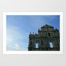 Macau's Ruins of St Paul's  Art Print