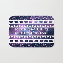 keep smiling Bath Mat