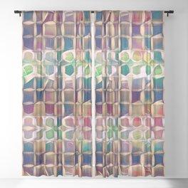 Leaking Paint Box II Sheer Curtain