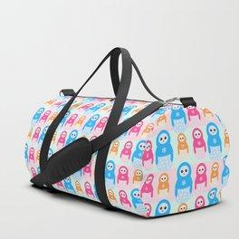 Winter matrioshka candy penguins pattern Duffle Bag