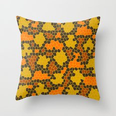 Autumn Kaléidoscope Throw Pillow