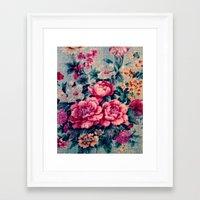 vintage floral Framed Art Prints featuring Vintage Floral  by CLE.ArT.