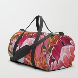 Lovely Feather Protea Duffle Bag