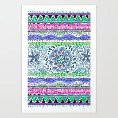 Aqua Bloom Art Print