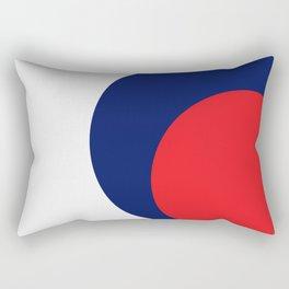 Cercle  orange bleu Rectangular Pillow
