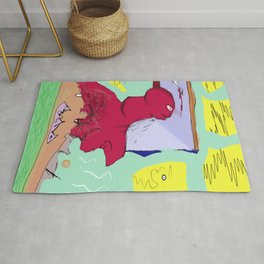 Red Being Rug