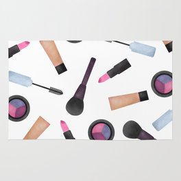 Scattered Makeup Pattern Rug