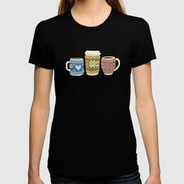 Cozy Mugs - Bg Blue Wood T-shirt