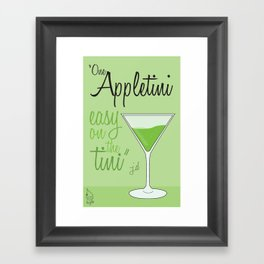 Tv drink quotes [ SCRUBS ] Framed Art Print