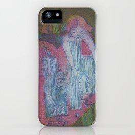 Mending a Broken Heart, etching, 1982 iPhone Case
