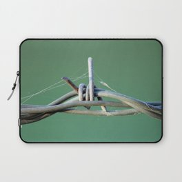 Barbwire and Spiderwebs Laptop Sleeve