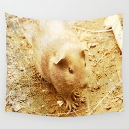 Vintage Animals - Guinea Pig Wall Tapestry