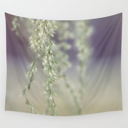 Little White Flowers Wall Tapestry