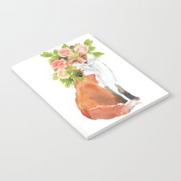 fox with flower crown Notebook