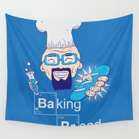baking Wall Tapestries featuring Baking Bread by DarkChoocoolat