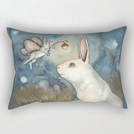 Night Bunny Fairy Rectangular Pillow