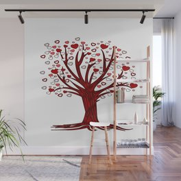 Heart Tree (2) Wall Mural