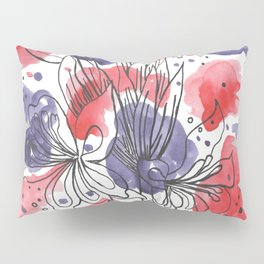 Red and purple Pillow Sham